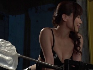 Happy Asian Mistress Has Multiple Male Slaves To Play With