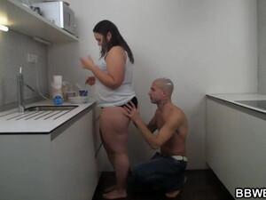 Hot Bbw Sex At The Kitchen