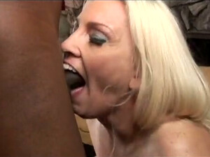 Blonde Mom Teases A Black Guy With Her Body And Sucks His BBC
