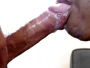 African Whore Swallows All My Thick Sperm!