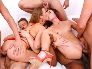 Podwójny anal,Podwójna penetracja,Seks grupowy,Orgia,Impreza