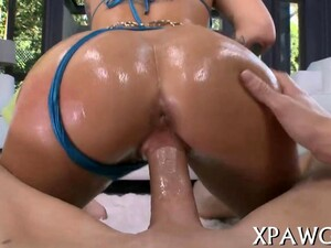 Tattooed Emo Porn Star Oiled Up For Hot Sex Doggy Style