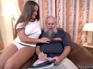 Young Sweetie Olivia Nice Hooks Up With One Old Fart