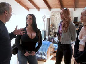 Naughty Lesbian Jenny Blighe Is Teaching One Babe How To Suck A Dick