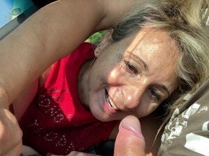 Naughty Mature Sucks A Large Dick And Gets Fucked In The Car