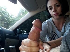 Brazilian Whore Jerking Dick In The Car