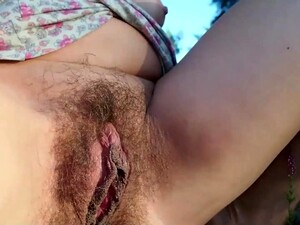 Pregnant Woman Masturbates And Piss In The Forest