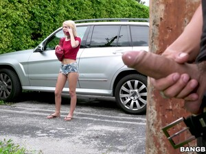 Rough Outdoors Sex With Choking For Skinny Blonde Kenzie Reeves