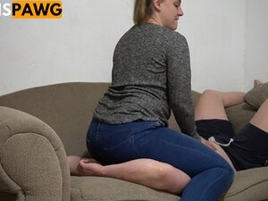 Huge Ass Pawg Facesitting And Riding Slaves Face In Jeans!