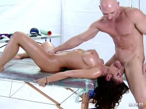 Balls Deep Throat And Pussy Fucking During A Massage For Capri Cavanni