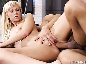 Tall Teenage Blonde With Sexy Tattoos Gets Fucked