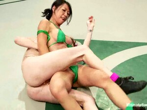 Asian And Redhead Chicks And Have Sex In A Dressing Room