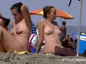 Nice Women Sunbathing On Beach In France Spy Video