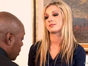 Blondie Takes A Big Black Cock Up Her Ass.