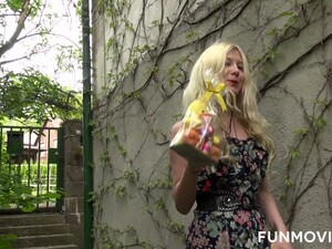 Frisky Young Blonde Sarah Dark Hooks Up With One Dude Wearing Bunny Costume