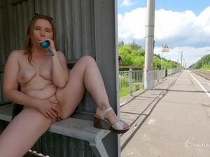Flashing Cumslut On The Railway - Teaser - Oxana Shy