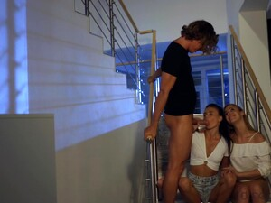 Alexis Crystal, Kate Rich And Katie Morgan - Dude Picks Up Two Babes At Party And Seduces Them Into Orgy