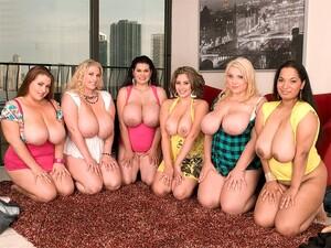 Behind The Scenes: Sex In The Titties - Camelia Davis, Haydee Rodriguez, Hillary Hooterz, Renee Ross, Scarlett Rouge, And Selena Castro - XLGirls