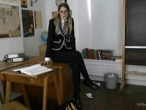 St Mackenzie's - Melissa Strips & Makes You Cum For Her In Class