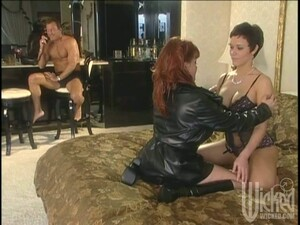 Guy Watches Two Lesbians Having Some Foot Fetish Fun