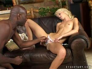 Lusty Blondie Cora Carina Gets A Huge Black Cock