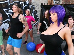 Black Guy Finds Those Huge Titties Irresistible In An Outdoor Video