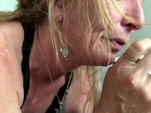 Blonde Mature , Born To Suck Cock