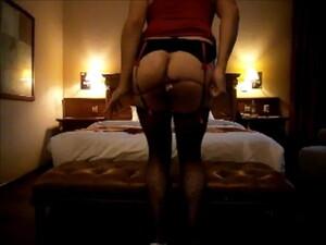 Spanish Crossdresser Bitch Striptease's In Hotel Room