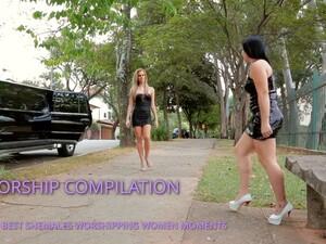 SHEMALE WORSHIPPING WOMEN COMPILATION