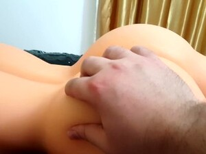 Testing New Silicone Doll Hard Anal Fuck