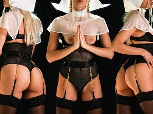 Step Daddy Spying Naughty Step Daughter Nun Take Her Virginity Before Monastery / Family Therapy