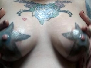 After Bath Fun Time With My Titties!