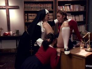 Sarah Shevon And Jodie Taylor - Strict Nun Punishes 2 Girls
