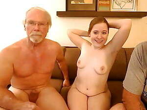 Two Older Men Fuck A Young Girl