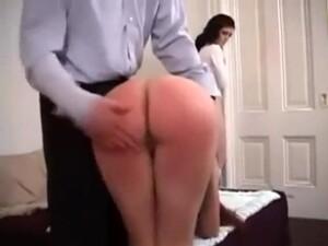 Bad Girl Brunette Gets Her Ass Spanked Hard