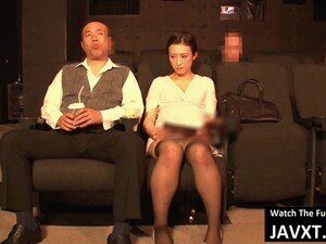 Hot Japanese MILF Fucked In The Theater