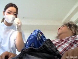 Couple,Porno Japonais,Astiquage,Infirmière,Uniforme