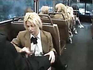 Naughty Schoolgirl Suck And Stroke On The Bus