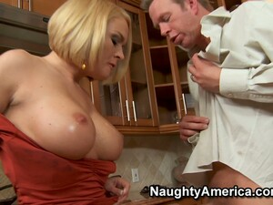 Maid Krissy Lynn Is Fucking Her Married Boss In The Kitchen