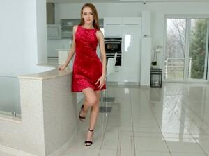 Seductive Ukrainian Hottie Kira Parvati Takes A Dick In Her Tight Anus