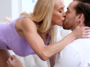 Tantalizing Seductress Brandi Love Is Making Love With Hot Blooded Young Lover