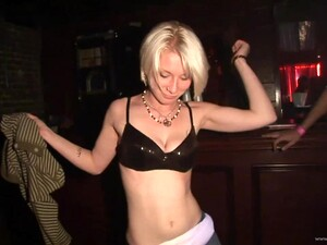Tattooed Drunk Amateur In Miniskirt Dancing Wildly In A Club Party In Reality Shoot