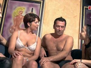German Couple Swinger Orgy Groupsex
