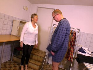 Watch Short Haired Mature Whore Begs Man To Fuck Her Doggy Style