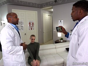 Black Doctors Ass Fuck Charming Blonde After Teasing Her Well Enough