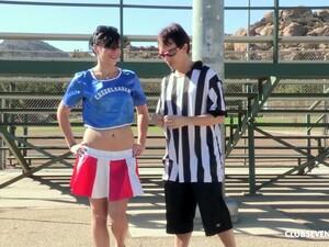 Horny Brunette Cheerleader Savannah Camden Sucks Dick And Gets Pounded