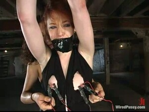 Dominated Redhead Justine Joli Gets Pussy Tortured And Fucked In Lez BDSM