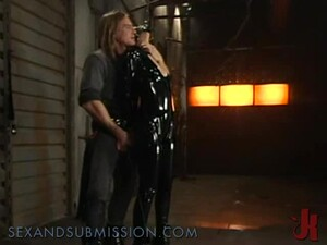 Hot Babe Wearing Latex Makes A Great Bondage Scene