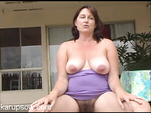 Sexy Thick Bush Growing Between Her Mature Legs