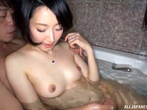 Lovely Babe Eri Ito Has Fun With A Stiff Cock In The Bathtub